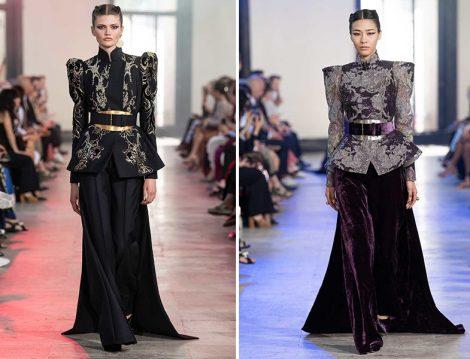 Elie Saab 2019 Couture Yüksek Omuz Ceket