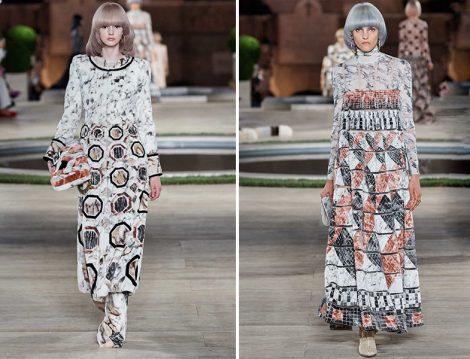Fendi Fall 2019 Couture Desenli Elbise