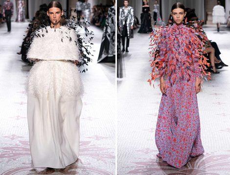 Givenchy Couture Fall 2019 Kuş Tüyü Detaylı Tasarımlar