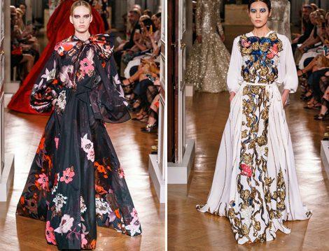 Valentino 2019 Couture Çiçekli Elbise