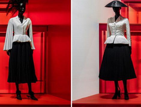 Christian Dior Paris'ten Dünyaya Sergisi - Siyah Pliseli Etek ve Beyaz Ceket