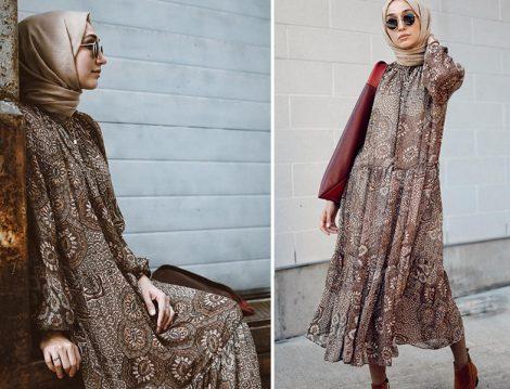 Elif Doğan H&m Çiçekli Elbise