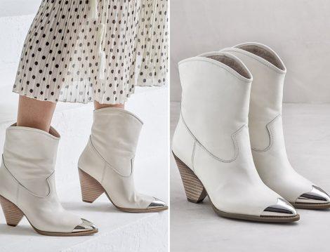 Elle Hakiki Deri Kadın Topuklu Bot