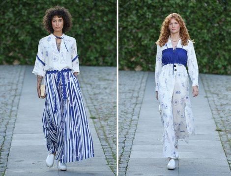 Mehtap Elaidi 2020 İlkbahar Yaz Çizgili ve Desenli Elbise