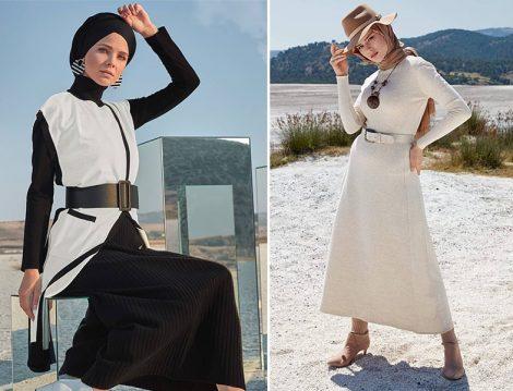 Alvina 2019-20 Sonbahar Kış Elbise ve Panço