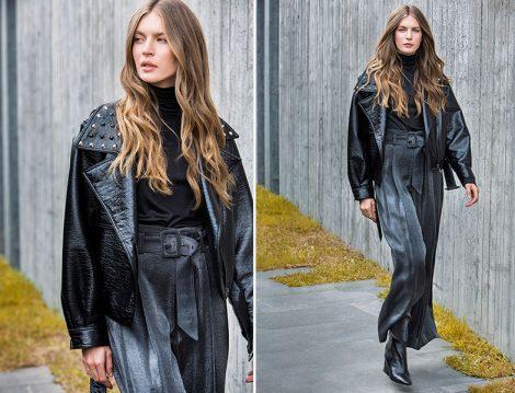 Berrin Bol Kesim Yüksek Bel Siyah Pantolon