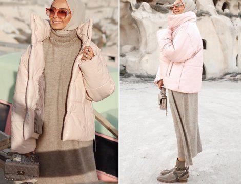 Betül Gedik Nanushka Beyaz Şişme Mont - Touche Triko Elbise