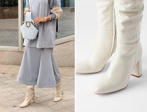Betül Gedik - Zara Suni Deri Yüksek Topuklu Çizme