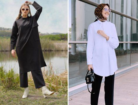Heqa Siyah Tunik - DeFacto Beyaz Tunik