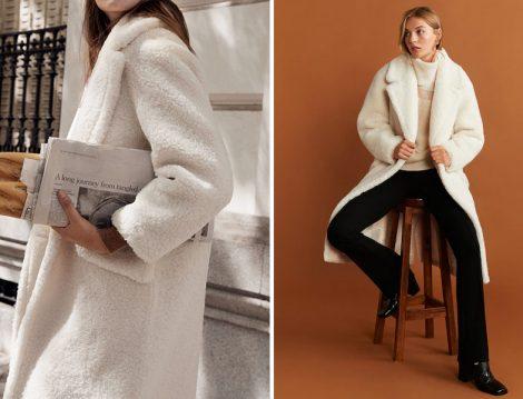 Mango 2019-20 Sonbahar Kış Suni Koyun Yünlü Palto