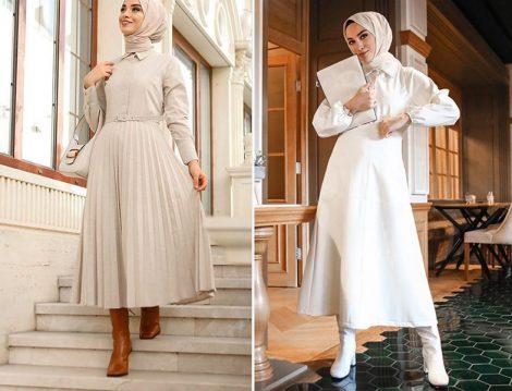 Sena Sever Özsarıçam Pliseli Elbise - Kadriye Baştürk Beyaz Elbise ve Çizme