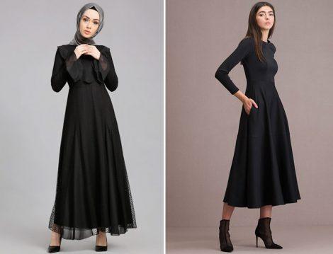 Siyah Tesettür Elbiseler