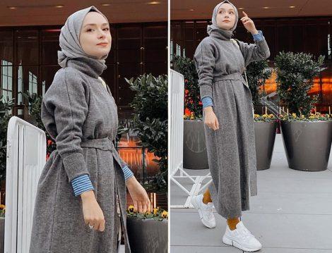 Şüheda Türkoğlu Vesna Design Kemerli Triko Elbise