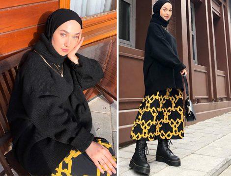 Betül Yıldırım Aşkı Nişantaşı Midi Boy Etek ve Kg Butik Kazak