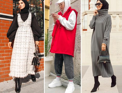 Sena Sever: Özsarıçam Jile / Beyza Ak: Chada Boutiqe Yelek / Betül Gedik Studio Nish Triko Elbise
