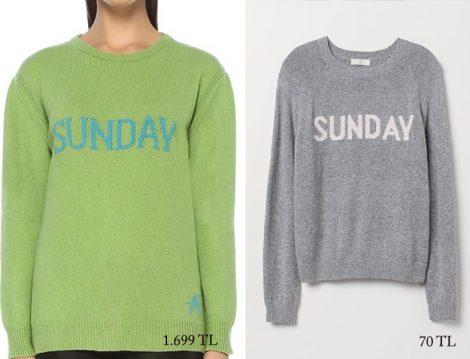 Alberta Ferretti – H&M Sunday Yazılı Kazak Fiyatları