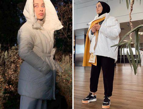 Aleyna Atalar Melike Tatar Şişme Mont Rümeysa Yağcı Suud Collection Şişme Mont