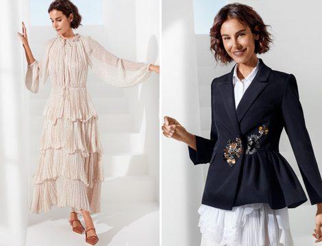 Arzum Onan - Machka İlkbahar-Yaz 2020 Kat Kat Elbise ve Boncuk İşleme Detaylı Ceket