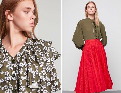 Machka İlkbahar-Yaz 2020 Desenli Bluz ve Pembe Etek