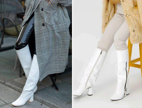Nizar Deniz Beyaz Mat Kadın Çizme - Oblavion Beyaz Alba Kadın Çizme