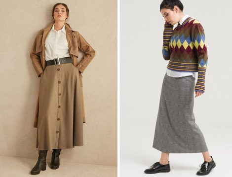Qooq Store - Armağan Giyim Ekoseli Etek