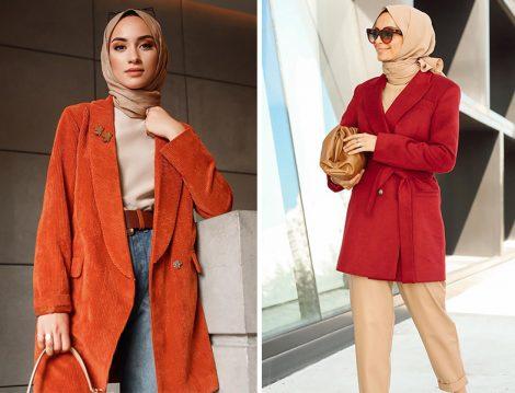 Sena Sever: Gülsüm Sevim Ceket - Betül Gedik: Ve Nove Koleksiyon Kiremit Kırmızısı Blazer Ceket