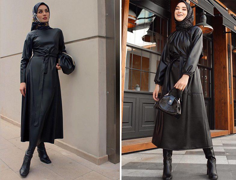 Sevinç Karhan: Emel Turgay Deri Elbise - Sena Sever: Kadriye Baştürk Deri Elbise