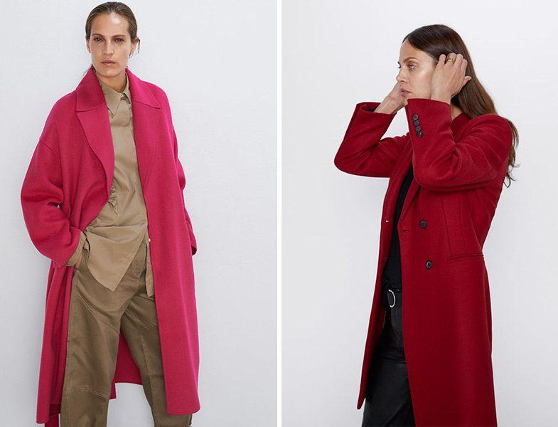 Zara Fuşya ve Kırmızı Kaban