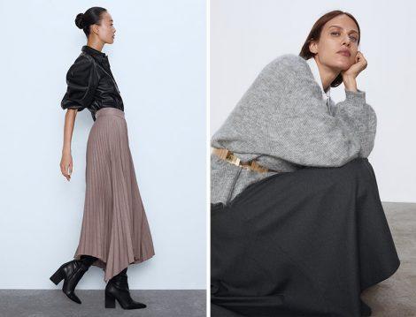 Zara Pliseli ve Kloş Etek