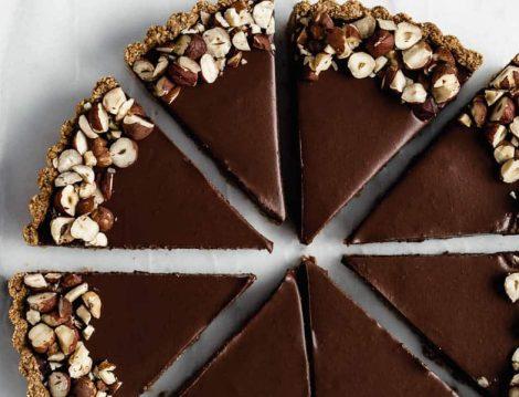 Çikolatalı Yulaflı Tart