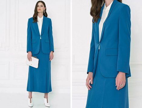 Aker Mavi Klasik Blazer Ceket