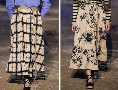 Christian Dior 2020 Bej Desenli Etek