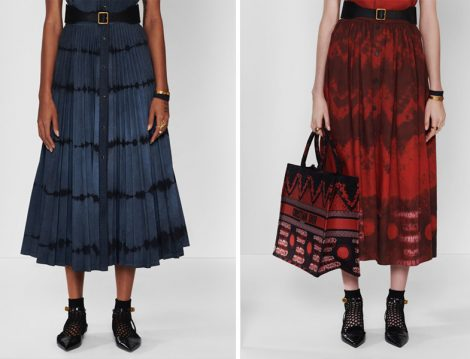 Dior 2020 Batik Baskılı Etek
