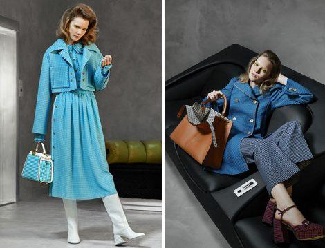 Fendi 2020 Pötikare Desen Elbise-Ceket ve Kaban
