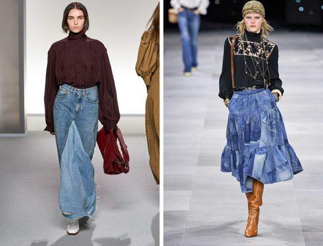 Givenchy & Celine 2020 İlkbahar Yaz Denim Etek