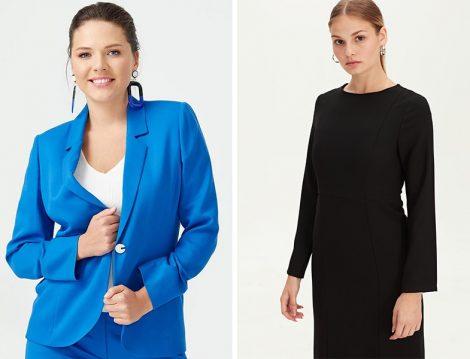 Seçil Mavi Ceket - LC Waikiki Siyah Elbise