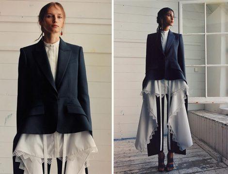 Alexander McQueen Dantel İşli Bluz ve Ceket