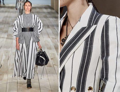 Alexander McQueen Siyah – Beyaz Çizgili Pantolon – Ceket ve Elbise