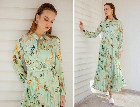 Askı Nişantaşı - Ayhan Akbaş Tasarımı Floral Elbise