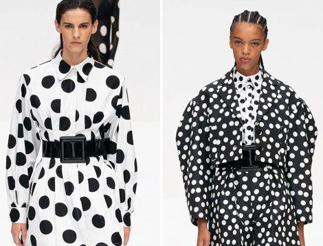 Carolina Herrera 2020 İlkbahar – Yaz Puantiyeli Elbise ve Ceket