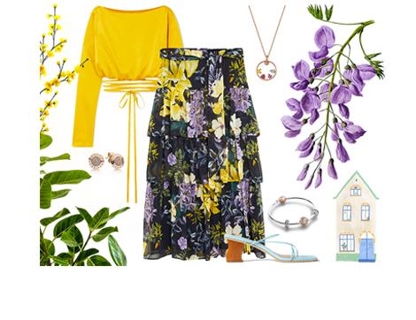 Evde Bahar Gibi Eseceğiniz 2 Çiçekli Etek Kombini