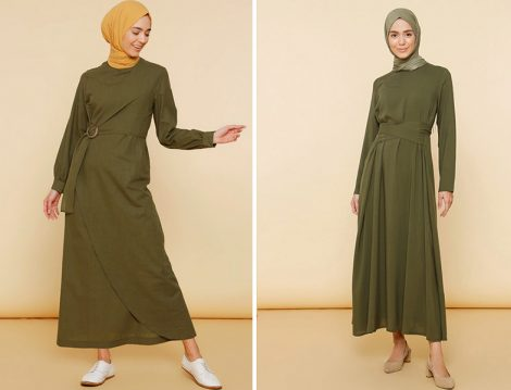 Mnatural Beli Tokalı Elbise - Mnatural Düz Renk Elbise