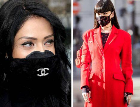 Paris Moda Haftasında Coronavirüs İçin Maske Takan Davetliler
