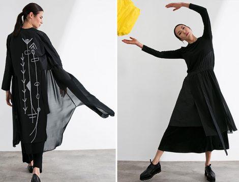 Almarwah Siyah Elbise ve Kap