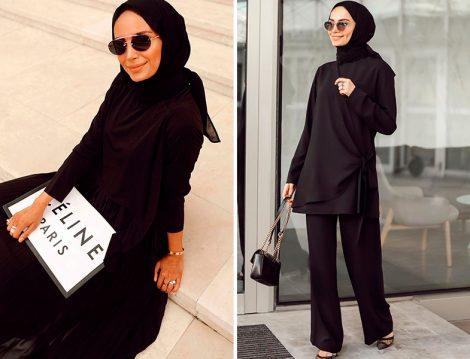 Betül Gedik Siyah Elbise ve Takım