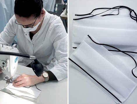 Dior Koronavirüs İçin Maske Dikimi