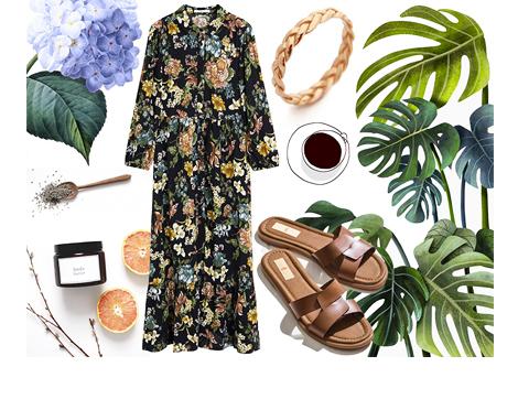Evde Bahar Çiçeği Gibi Açacağınız 4 Çiçekli Elbise Kombini