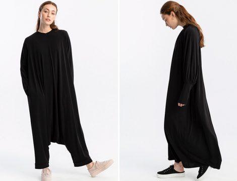 Touche Siyah Şalvar Tulum ve Örme Elbise