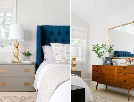 Yatak Odası Dekorasyonu Komidin Üstü Düzeni