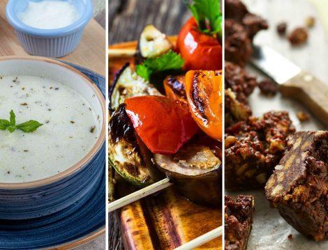 Yayla Çorbası - Izgara Sebze - Kuru Meyveli Kek